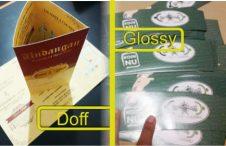 Perbedaan Laminasi Doff dan Laminasi Glossy. Pahami Sebelum Cetak