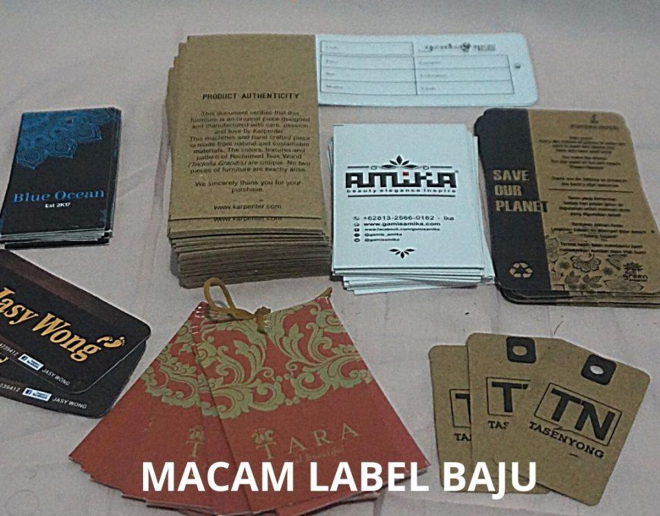 label baju